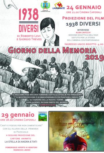 GIORNO DELLA MEMORIA 2019 – 1938 – DIVERSI