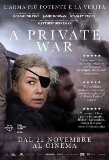 A PRIVATE WAR – GIORNATA INTERNAZIONALE DELLA DONNA